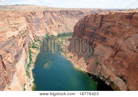 Colorado River running below the Glen Canyon dam, near Page in Arizona