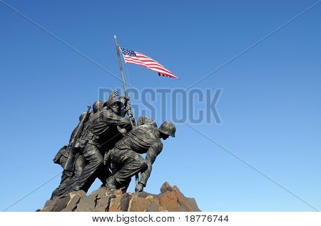 Iwo Jima, the United States Marine Corps Memorial, in Arlington, Virginia