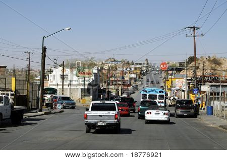 CIUDAD JUAREZ - FEB 28: Streets in Ciudad Juarez are the scene of the most violent drug cartel turf war in Mexico, on February 28, 2009.