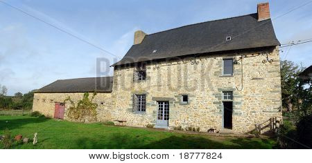 Stone house in Northern France, circa 1650.