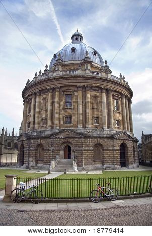 The Bodelien Library and Radcliffe Camera building, Oxford, UK