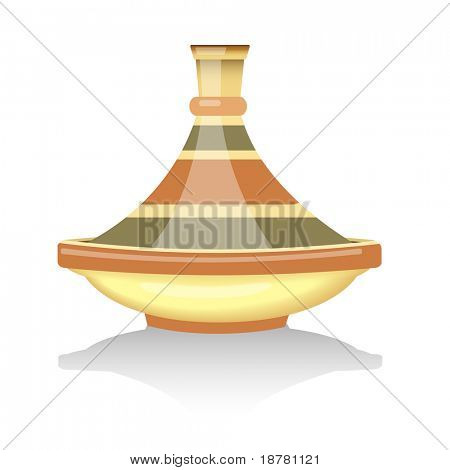 Traditional Moroccan tagine. EPS10 vector format.