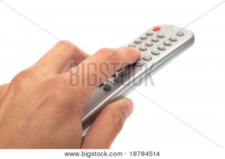 The television panel in a palm