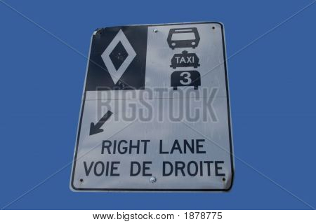 High Occupancy Vehicle Lane