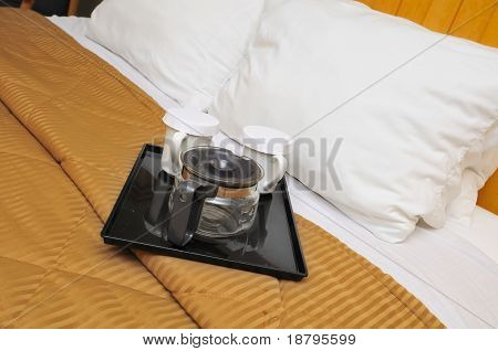 Drinking Utensils On Bed