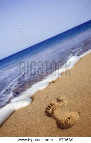 Strand-Fußabdruck