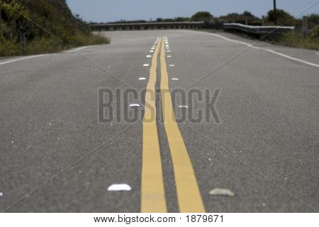 Double Yellow Striped Road