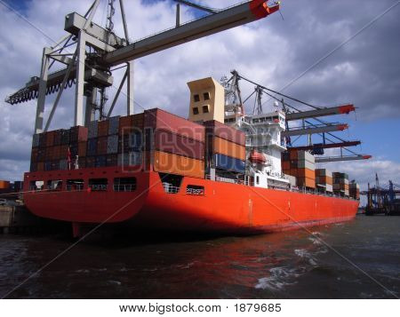 Docked Container Vessel