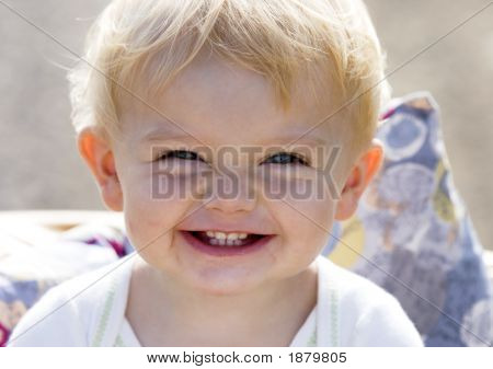 Portrait Of Smiling Little Girl (One Year Old)