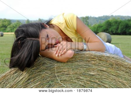 Young Girl On The Meadow