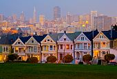 Alamo Square in San Francisco at night