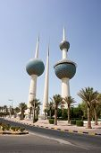 picture of kuwait  - Kuwait Towers in daytime - JPG