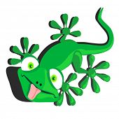 picture of dorky  - vector illustration of a dorky lizard - JPG