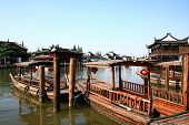 Постер, плакат: Чжоучжуан воды деревня Шанхай Китай
