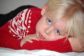 """picture of pouty lips  - Four year old blond girl with very fair complexion. She is sticking her lip out in a very pouty and sad expression. She has """"puppy dog eyes"""". ** Note: Slight blurriness, best at smaller sizes - JPG"""