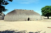 stock photo of longhouse  - KAMAYURA VILLAGE - JPG