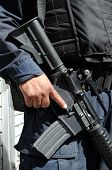 stock photo of m4  - Closeup of M4 carbine  - JPG