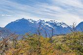 Постер, плакат: Snowy Mountains Parque Nacional Los Glaciares Patagonia Argentina