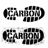 stock photo of carbon-footprint  - a graphic of the phrase  - JPG