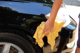 picture of car wash  - shot of a car wash in driveway - JPG