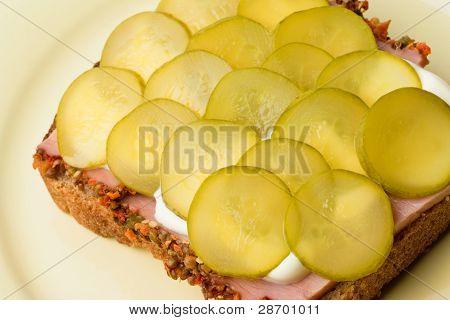 Pickled Cucumber Sandwich