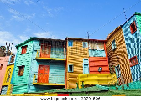 The colourful buildings of La Boca