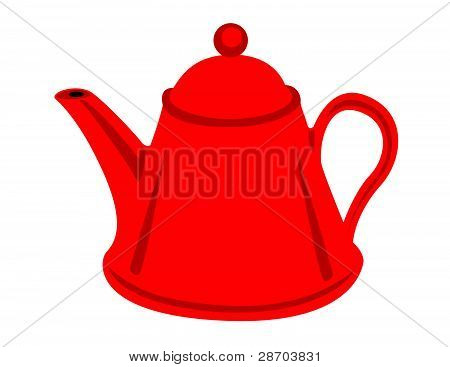 Red Teapot Illustration