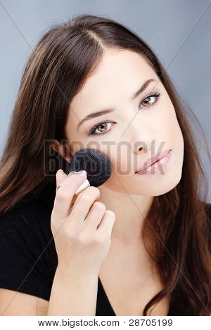 Makeup With Powder Brush