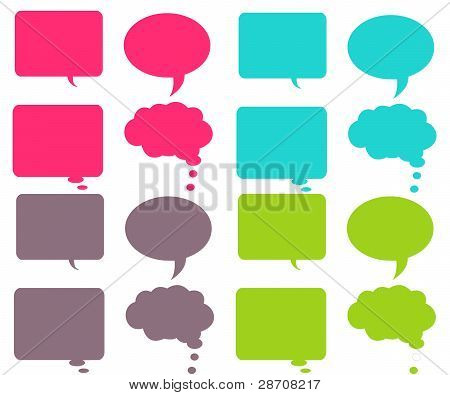 Vibrant Chat Bubbles