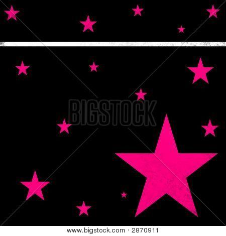 Black & Hot Pink Stars