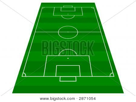 Football Pitch Perspective View