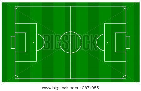 Football Pitch Over Head View
