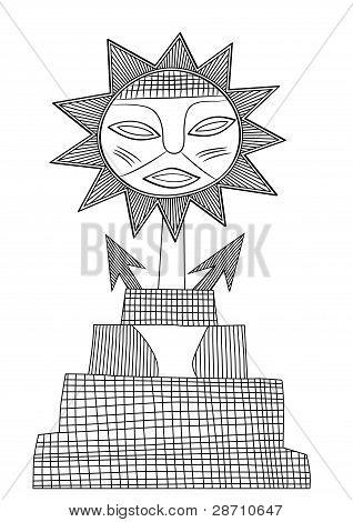 God Of Sun - Vector