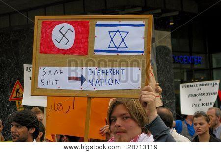 Demonstration against Israel's attack