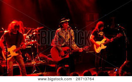 HELSINKI,FINLAND-MAY 11:American Rock/Country rock band Jason & the Scorchers from Nash
