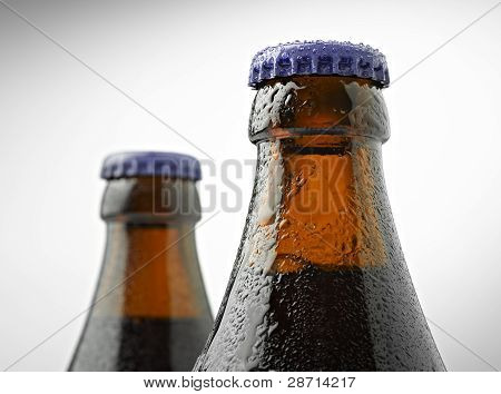 Neck Of A Trappist Beer Bottle With A Lid