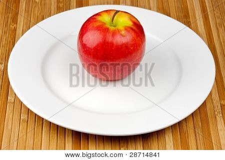 apple on plate