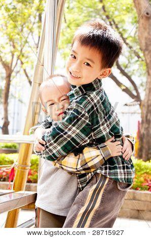 Hug brother