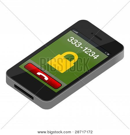 Touch Mobile Phone Vector Illustration