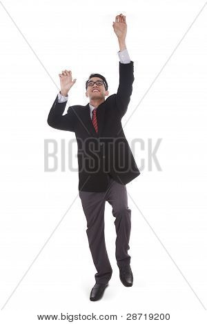 Businessman Climbing Upward