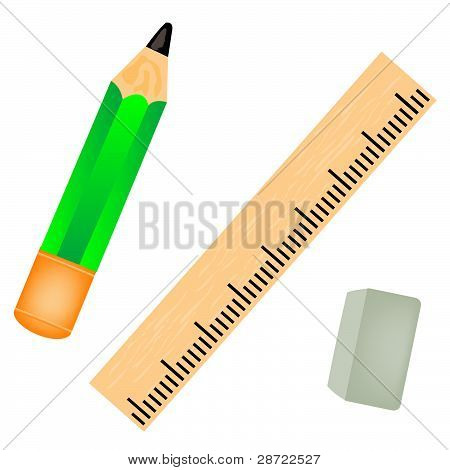 Pencil With Straightedge