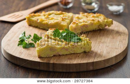 Potato gateau.