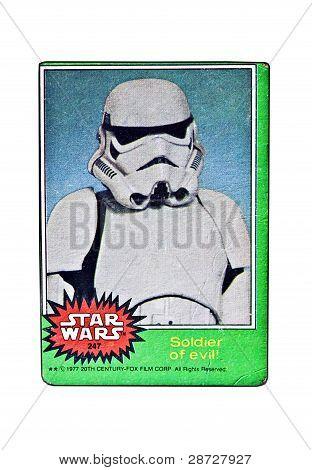 Original Star Wars Card Soldier Of Evil