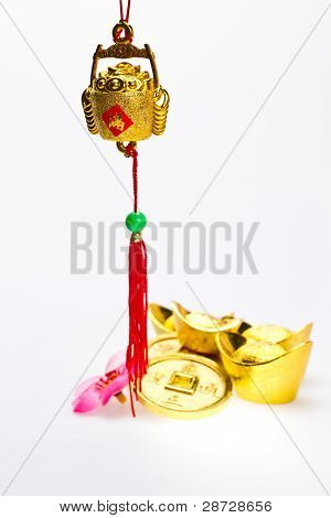Chinese New Year - Hanging Wealth Pot