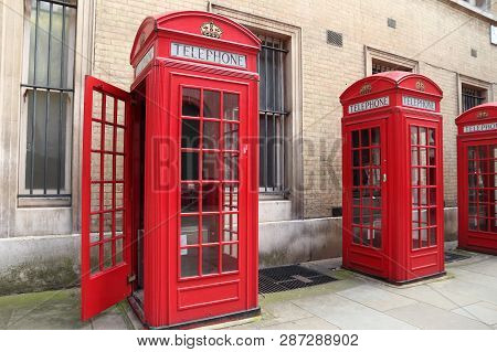 London Telephone Booth Row London