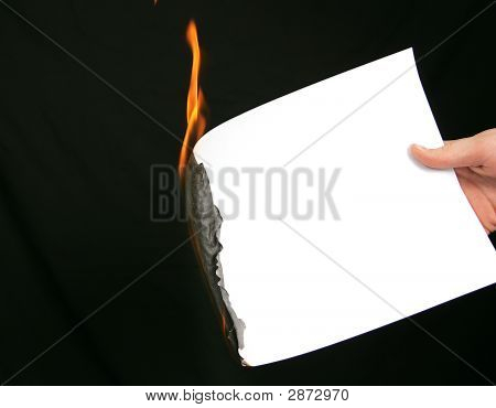 Burning Blank Paper For Message