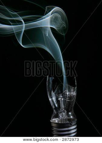 Smoking Busted Lightbulb