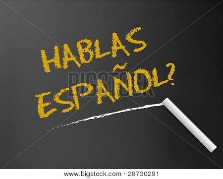 Quadro de giz - Hablas Espanol