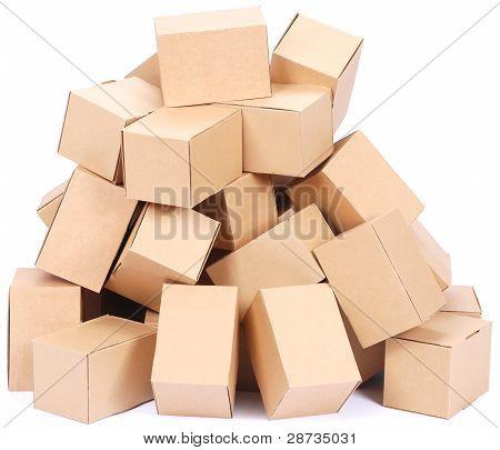 Heap Brown Cardboard Boxes
