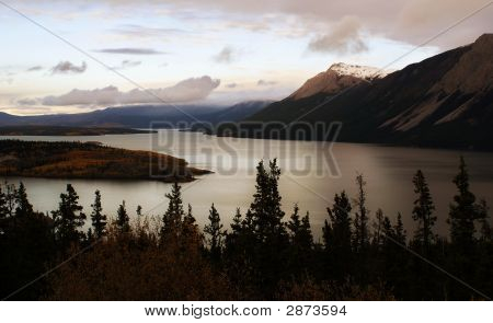 Lake At Dusk, Yukon, Canada